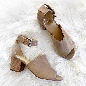 EUC Marc Fisher Suede Leather Block Heel Sandals